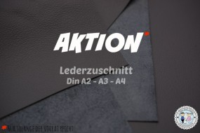 AKTION Lederzuschnitt Anthrazit Grau