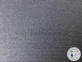 Bündchen mini Streifen Grau / Anthrazit 1mm