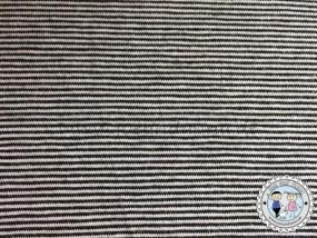 Bündchen mini Streifen Schwarz / Weiß 1mm