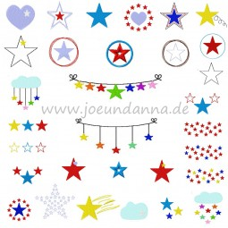 Stickdatei Sternen-Set - 50 Dateien DOWNLOAD