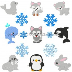 Stickdatei WINTERTIERE- 15 Dateien DOWNLOAD