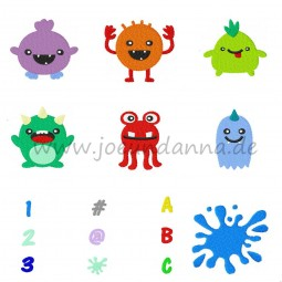 Stickdatei MONSTER- 7+9 Mini-Dateien DOWNLOAD