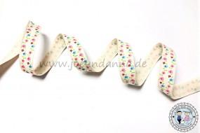 Baumwollband Streublümchen bunt 15mm