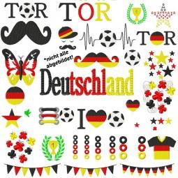 Stickdatei Fussball EM WM Set - 53 Dateien DOWNLOAD Europameisterschaft Welmeisterschaft Deutschland