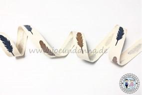 Baumwollband Federn 15mm