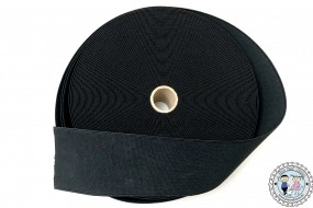 Gummiband gewebt Schwarz 70mm / 7cm