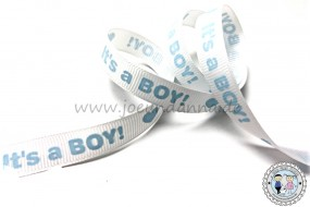 Ripsband -It´s a Boy- Geburt - 12mm