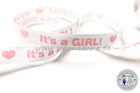 Ripsband -It´s a Girl- Geburt - 12mm