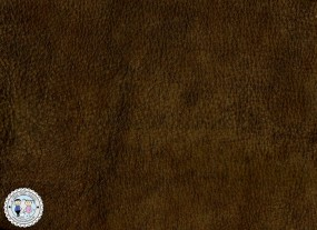 Lederhaut - 1m² Lederzuschnitt NUBUK Walnuss dunkel Antik