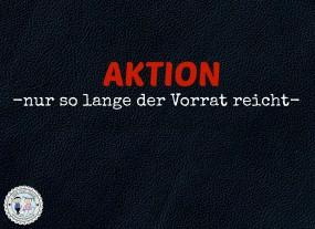 AKTION Lederzuschnitt Schwarz