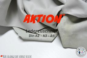 AKTION Lederzuschnitt hell Grau