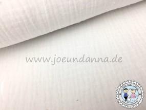 Musselin Offwhite Weiß Double Gauze Baumwolle