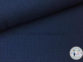 Musselin Marine dunkel Blau Double Gauze Baumwolle
