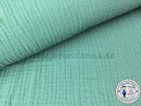 Musselin Smoky Mint Double Gauze Baumwolle