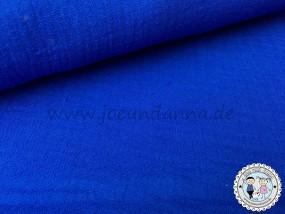 Musselin mittel Blau Double Gauze Baumwolle