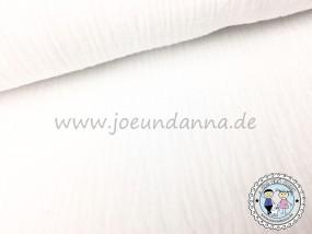 Musselin Weiß Double Gauze Baumwolle