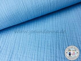 Musselin hell Blau Double Gauze Baumwolle