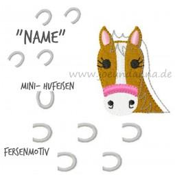 Stickdatei Pferd / Pony Hufeisen