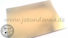 Lederzuschnitt Spiegelleder Gold