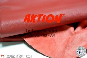 AKTION Lederzuschnitt Rot
