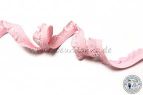 Rüschengummi Rosa 13 mm