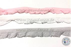 Rüschengummi Grau 13 mm