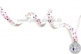 Ripsband Punkte Lollipop-MAUVE 10mm