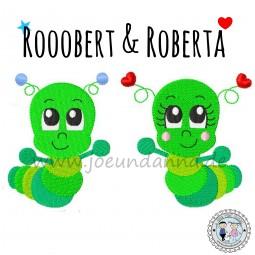 Stickdatei Rooobert & Roberta Raupe - Raupenliebe