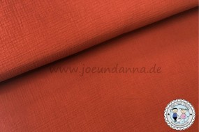 Musselin Rost-Orange Double Gauze Baumwolle