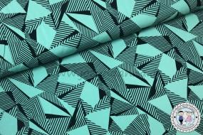 Jersey Geometrics Smoky pastell Mint