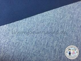 Softshell Navy Blau meliert