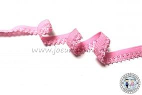 Wäschegummi mit Bogenkante Rosa 11 mm