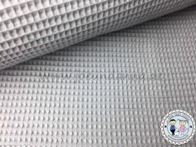 Waffelpique Baumwolle hell Grau