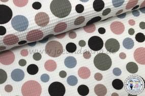 Waffelpique Baumwolle Punkte Dots