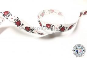 Ripsband Marienkäfer - Ladybug 15mm