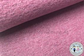 Wollstoff - Wolle Mantelstoff Altrosa meliert