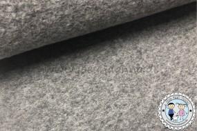 Wollstoff - Wolle Mantelstoff Grau meliert