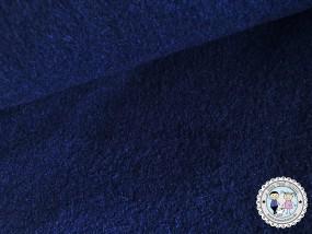 Wolle / Walk - Walkstoff Marine dunkel Blau