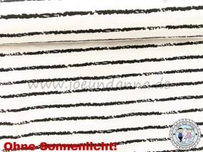 Jersey ZAUBERSTOFF Streifen Schwarz-Weiß - Farbkleckse