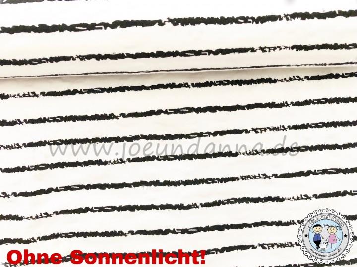 Jersey Zauberstoff Streifen Schwarz Weiß Farbkleckse