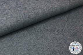 Musselin meliert - dunkel Jeans - Baumwollstoff