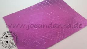 Lederzuschnitt Spiegel Schlange Violett
