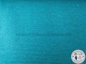 Jersey mini Streifen 1mm Türkis/ Atlantic