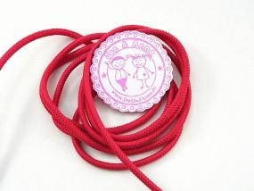 1 Meter Gummikordel Pink ø 3 mm