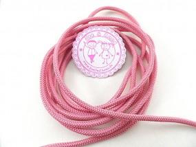 1 Meter Gummikordel Rosa ø 3 mm