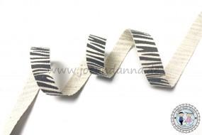 Baumwollband Zebra - Look 15mm